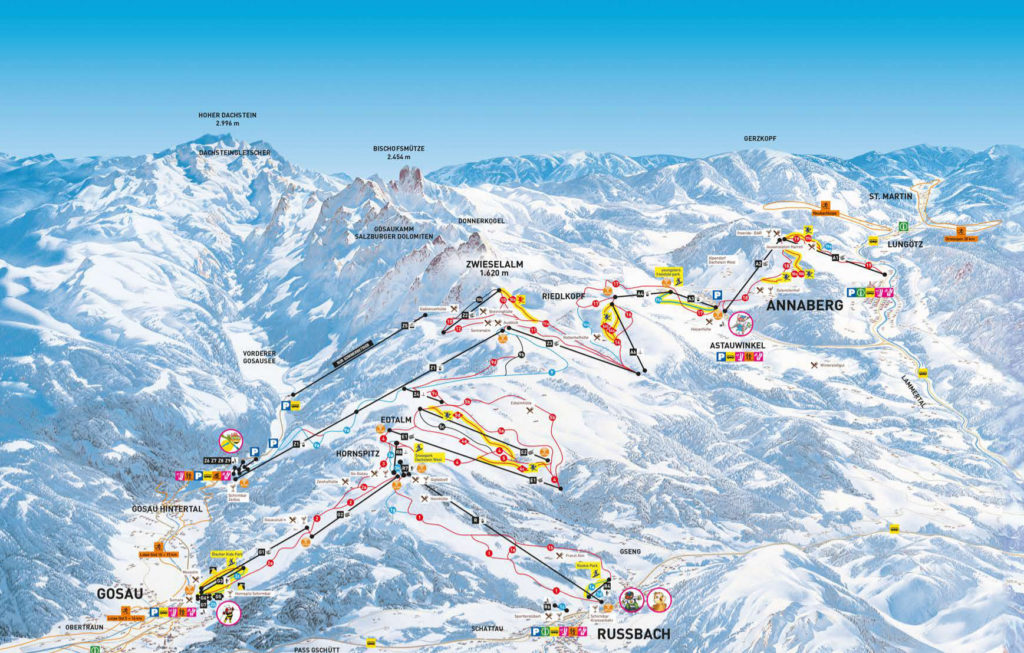 dachstein-west-ski-map